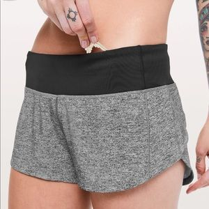 lululemon speed up shorts grey